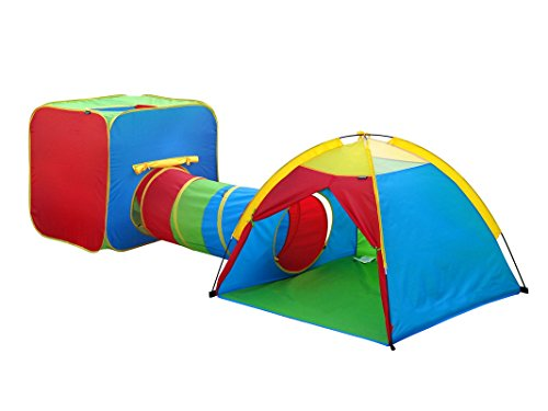 Gigatent Kids Play Tents (GigaTent Play Tent and Tunnel One Square Cubby-One Dome)