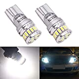 HSUN T10 W5W 12961 161 168 175 194 2825 LED Bulbs with Extremely Bright 20LED SMD3014 for Car Indicator Light,Interior Light,Dome Reading Light,Back Up Light,Side Door Courtesy Lights and More,2 Pack,6000K White