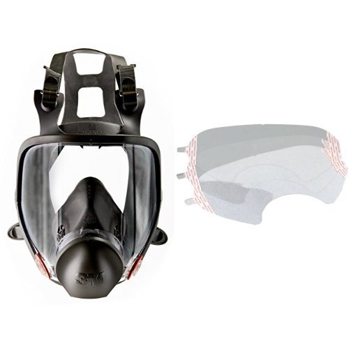 3M Full Facepiece Reusable Respirator 6800, Respiratory Protection, Medium(Pack of 1) and Faceshield Cover 6885/07142(AAD), Respiratory Protection Accessory  (Pack of 25) bundle by 3M (Image #1)