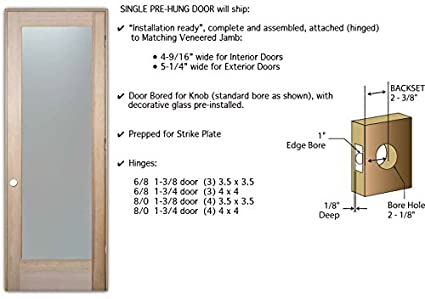 Delicieux Pantry Door   Sans Soucie Etched Glass Interior Door, Doug Fir, Vino Design  24 In. X 80 In. Book/Slab Door 1 3/8 In.     Amazon.com