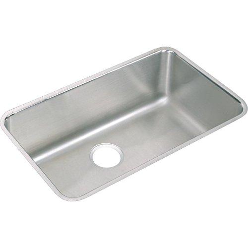 - Elkay Lustertone ELUH281612 Single Bowl Undermount Stainless Steel Kitchen Sink