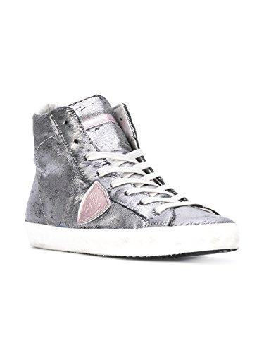 Philippe Model - Zapatillas para mujer plateado plata IT - Marke Größe