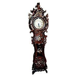 Atlantic Collectibles 73Tall Large Vintage Grandfather Clock With Pendulum Home Furnishing Decor