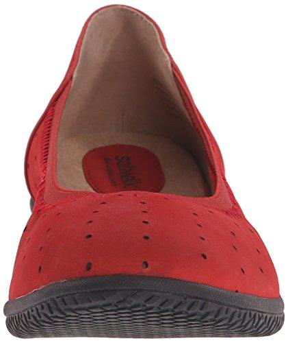 Softwalk Kvinners Hampshire Ballett Flat Rød