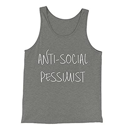 Expression Tees Anti-Social Pessimist Jersey Tank Top for Men