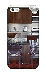 Durable Defender Case For Iphone 5/5s Tpu Cover(loft Kitchen With Warm Cabinets Amp Stainless Appliances)