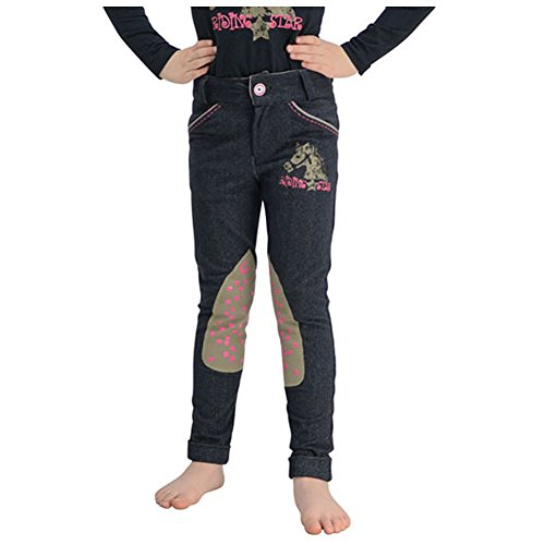 Little Rider Riding Star Denim Jodhpurs Age 7-8 Denim