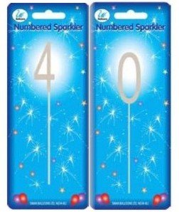 Sparkler Sparkling Number Birthday Cake Candle 40