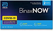 BinaxNOW COVID-19 Antigen Self Test, COVID Test With 15-Minute Results Without Sending to a Lab, Easy to Use a