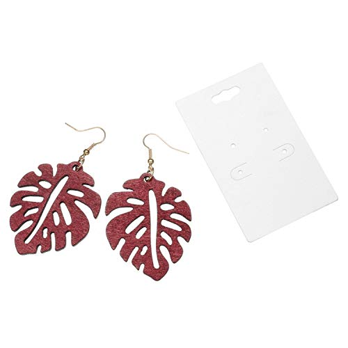 Novelty Hollow Leaves Pendant Earrings For Women Fashion Party Jewelry Girl Simple Earrings Elegant 3 Color Optional,Red