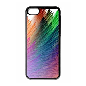 Okaycosama Funny IPhone 5C Cases Colorful 179 Protector for Girls, Case for Iphone 5c for Women, {Black}
