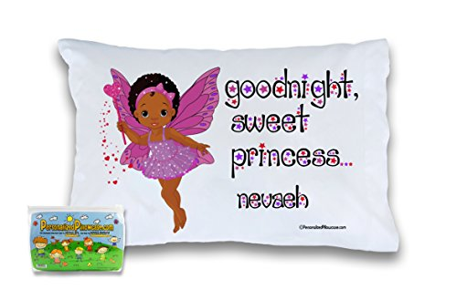 Customizable African American Princess Pillowcase Personalized With Your Child's Name. Perfect Gift Idea For Little Girls … (Standard 20