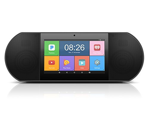 """Aluratek - WiFi Internet Radio Media Player with 7"""" Touchscreen LCD, Built-In Memory and Rechargeable Battery, Stream over 50,000 radio stations!"""