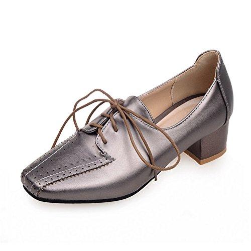 Fashion Heel Womens Low Heel Square Toe Loafers Black bHdOrf4zJ