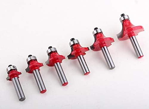 NO LOGO ZZB-ZT, 1pc 8mm Schaft Round-Over-Fräser-Spitzen for Holz Holzbearbeitungswerkzeug 2 Flute Endmill mit Lager-Fräser Corner Rund Bit (Size : 5NO)