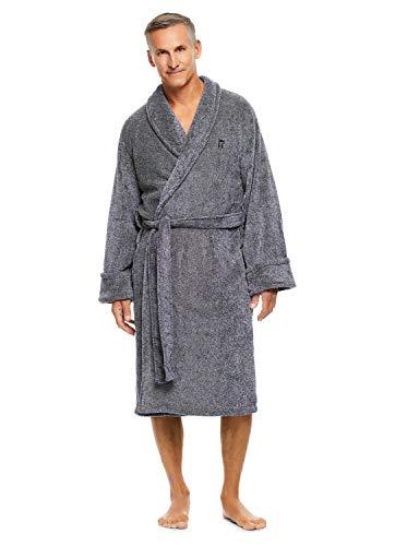 Haggar Men's Fleece Robe | Dressing Gown With Adjustable Belt XXL