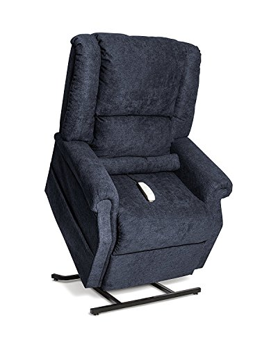 Zero Gravity Glass (NM-101 (Navy ) Mega Motion Juno Ultimate Power Lift Recliner Infinite Position Lay Flat And Zero Gravity Recliner. Includes Inside Delivery and Setup.)