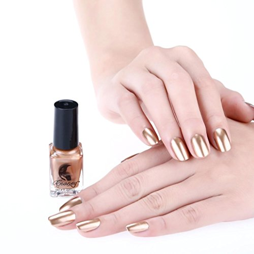 Nail Polish,SMYTShop Mirror Long Lasting Nail Polish Plating Silver Paste Metal Widest Color Stainless Steel (Bronze)