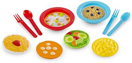 Melissa & Doug Create-A-Meal Fill Em Up Bowls (12 pcs) - Play Food and Kitchen Accessories