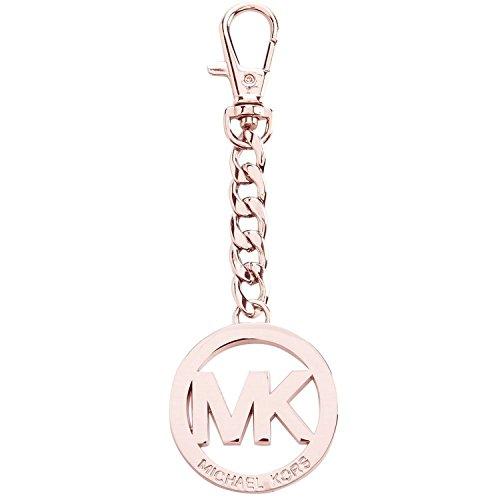 Michael Kors Rose Gold Signature MK Key Fob Keychain Hanging - Charm Versace