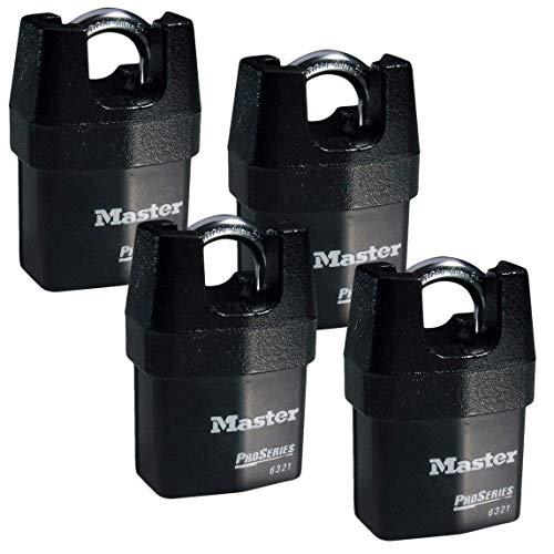 - Master Lock - Four (4) High Security Pro Series Padlocks 6321NKA-4 w/ BumpStop Technology.