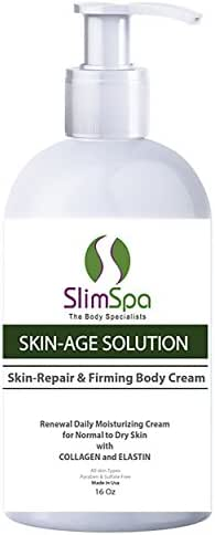 Anti Aging Firming Cream Body Moisturizer & Skin Repair After Sunning Treatment Skin-Age Solution Body Cream 16oz