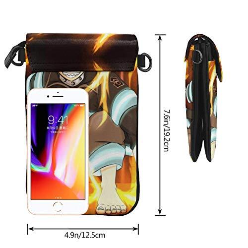 Hdadwy mobiltelefon crossbody väska brandkraft kvinnors crossbody handväskor handväska lätta väskor läder mobiltelefon hölster plånbok fodral axelväskor med justerbar rem