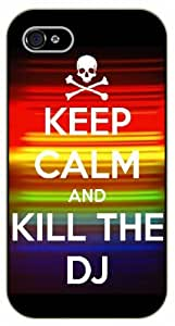 iphone 5c Keep Calm and kill the DJ, skull - black plastic case / Keep Calm, Motivation and Inspiration