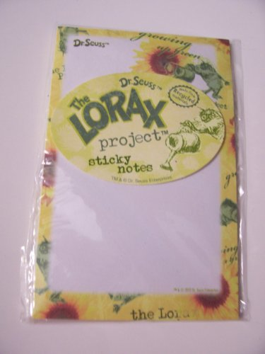 Dr. Seuss The Lorax Project Sticky Notes from Recycled Matierials ~ Growing Up Green (40 Sheets)
