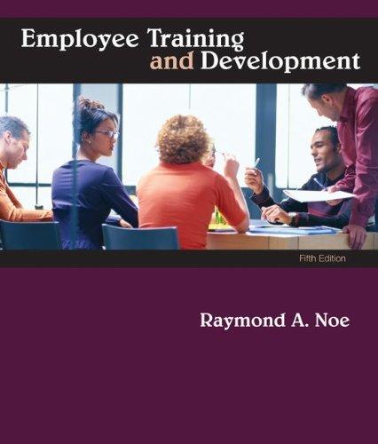 By raymond noe employee training development 5th edition 923 by raymond noe employee training development 5th edition 92309 raymond noe amazon books fandeluxe Image collections