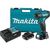 Makita FD10R1 12V max CXT Lithium-Ion Cordless 1/4' Hex Driver-Drill Kit (2.0Ah)