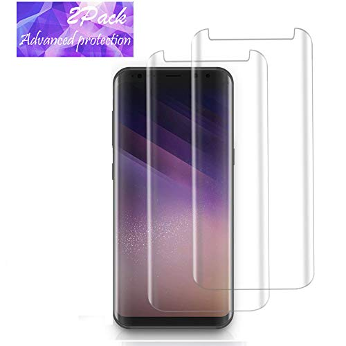 LEDitBe Galaxy S8 Screen Protector, [2PACK][9H Hardness][Anti-Scratch][Anti-Bubble][3D Curved] [High Definition] [Ultra Clear] Glass Screen Protector Samsung Galaxy S8 Clear by LEDitBe