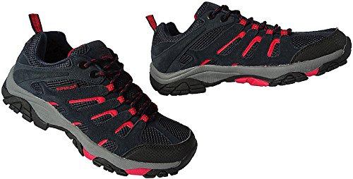Outdoor Herren Trekking Wanderschuhe Sneaker Schuhe Gr.41 - 46 Art.-Nr.5732 navy-rot