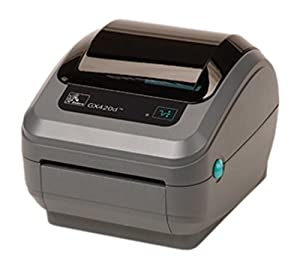 "Zebra GX430t Monochrome Desktop Direct Thermal/Thermal Transfer Printer with Serial/USB/Ethernet Ports, 4""/s Print Spd, 300 dpi Print Res, 4.09"" Print Width, 100-240V AC"