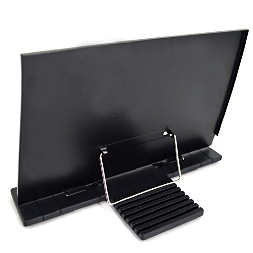 Amily Portable metal Reading Bookstand Computer Typing Bookend Cookbook Holder with 8 Adjustable Positions by Amily (Image #1)