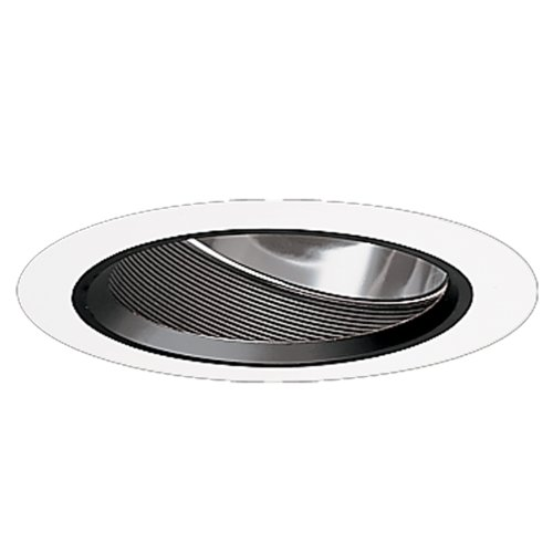 Halo Recessed 496P 6-Inch Baffle with Reflector Slope Ceiling Trim, Black Baffle and Reflector For Sale