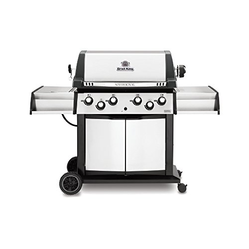 Broil King 988847 Sovereign XLS 90 Natural Gas Grill with Side Burner and Rear Rotisserie Burner