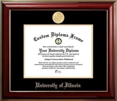 University of Illinois Gold Medallion Diploma Frame by Premier Frames (Image #1)