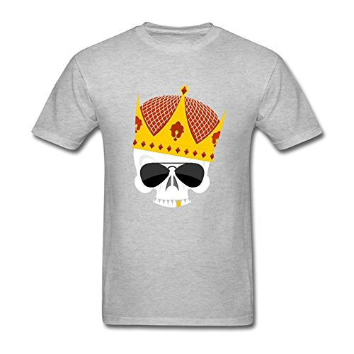 Nicesne Skull King Crown With Gold Teeth T Shirt For Men (Emblem Gold Pilot)