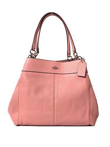 Coach F57545 Lexy Pebble Leather Shoulder Bag (SV/Petal)