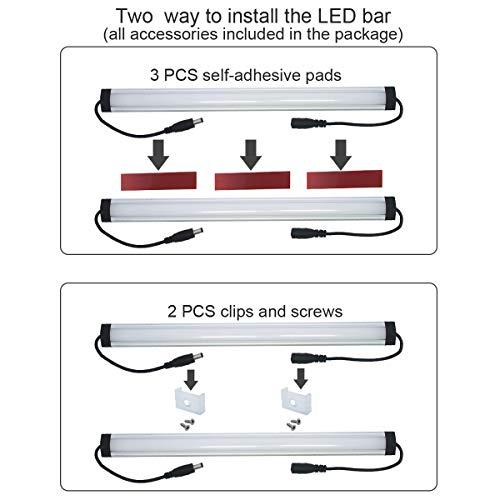 Under Cabinet LED Lighting Kit Plug in,6 pcs 12 Inches Cabinet Light Strips, 31W, 2000 Lumen, Super Bright, for Kitchen Cabinets Counter, Closet, Shelf Lights,Warm White 3000K-[6-Bars Kit-3000K] by Litever (Image #5)