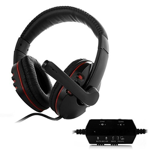 HUHD Wired Gaming Headset/Headphones HG-669MV for PS4, PS3, and Xbox 360, PC, Compatible with Xbox One(If Customer Have Microsoft Adapter) ,Noise Cancelling, Detachable Microphone For Sale