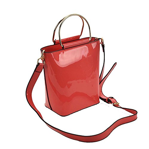 Crossbody Shiny for Haute Patent Fuchsia Navy Women Diva Bag 7Wf1fP