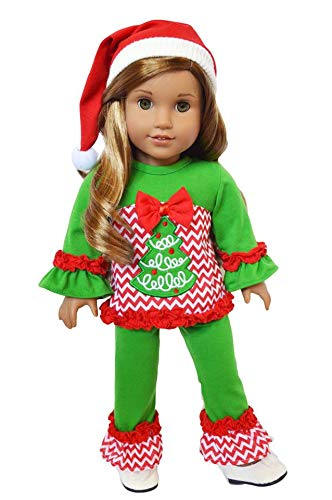 Brittany's Oh Christmas Tree Lounge Set for 18 Inch Dolls Compatible with American Girl Dolls-18 Inch Doll Clothes Brittany' s