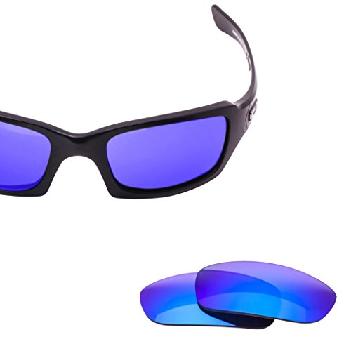 LenzFlip Replacement Lenses for Oakley FIVES SQUARED Sunglasses- Gray Polarized with Blue Mirror - Replace Lenses Oakley