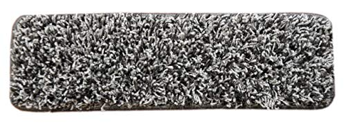 Dean Metal Gray Shag Premium Stair Gripper Tape Free Non-Slip Pet Friendly DIY Carpet Stair Tread Runner Rugs 30