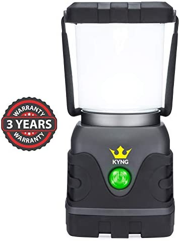 Camping Lantern 1000 Lumens- Bright Dimmable- Warm Cool White LED Light Modes- D-Cell Battery Powered for Outdoors, Emergency, Roadside Use