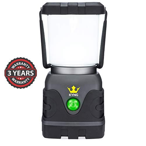 - Camping Lantern 1000 Lumens- Bright & Dimmable- Warm & Cool White LED Light Modes- D-Cell Battery Powered for Outdoors, Emergency, Roadside Use