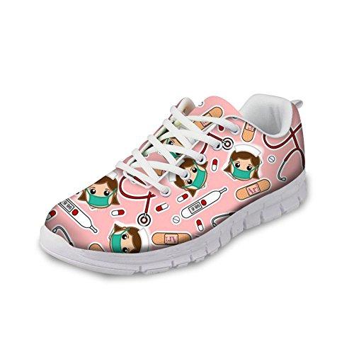 HUGS IDEA Y-CC441AQ - Zapatillas de Running Para Mujer Nurse 8