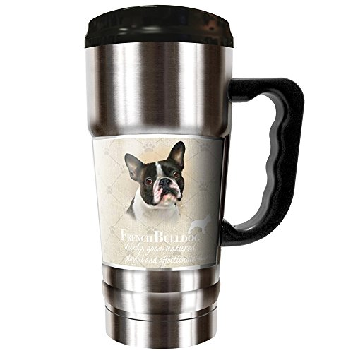 Howard Robinson - French Bulldog 20oz Vacuum Insulated Travel Mug by Dynasty Drinkware